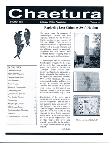 03. Chimney Swift Tower Supporter Membership