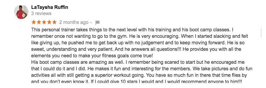 Alverez Houston Fitness Trainer Reviews Feedback