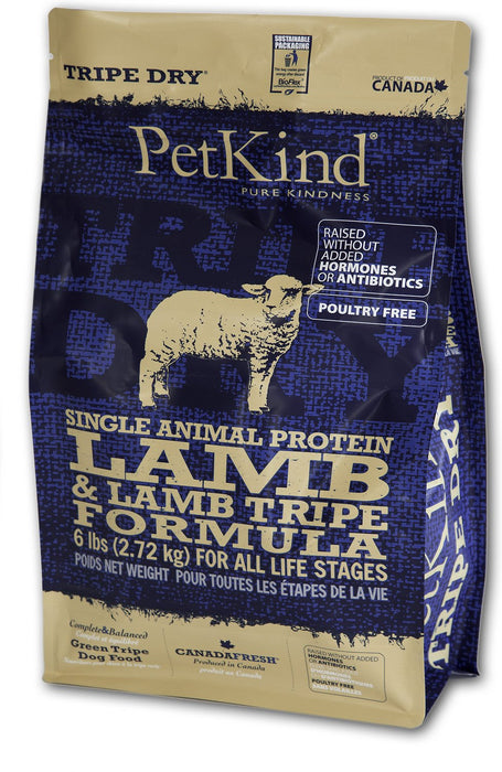 Petkind Chien - Dry Single Animal Protein Lamb & Lamb Tripe