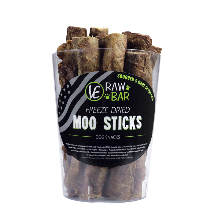 Vital Essentials (VE) Raw Bar Moo Sticks Lyophilisé