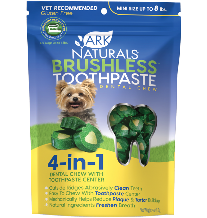 Ark Naturals Brushless Toothpaste - Mini - Jusqu'à 8lbs - 4oz