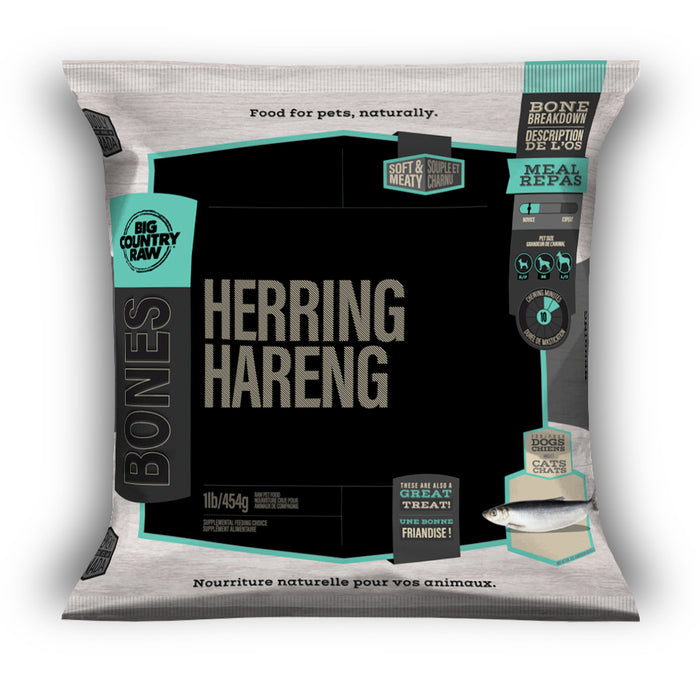 Big Country Raw - Os - Hareng 1lb - Chat et Chien