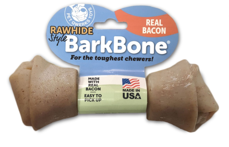 Pet Qwerks - BarkBone Rawhide Bacon - Large