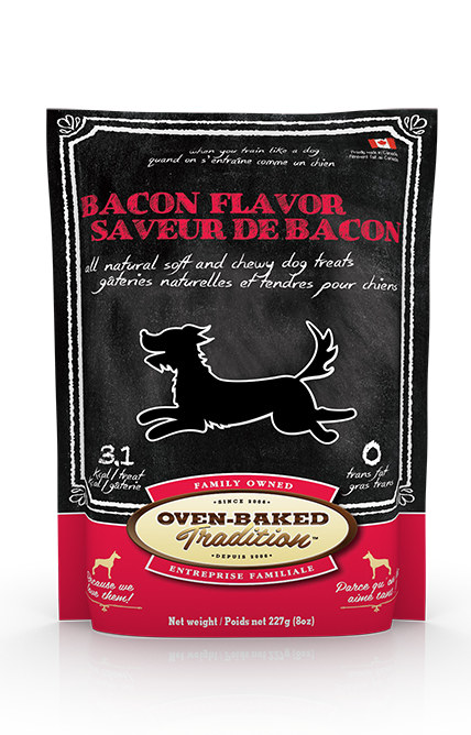 Oven Baked Chien Gâterie Tendre au Bacon