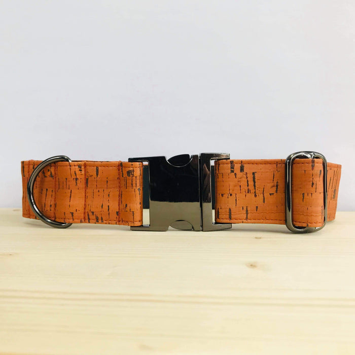 "Puck & Co - Collier - Liège Orange - Clip en Métal - 1.5"" - Chien"