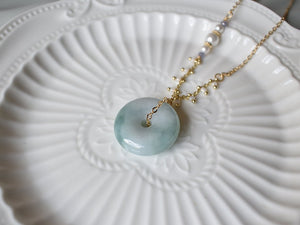 Necklace: Jade Donut 16