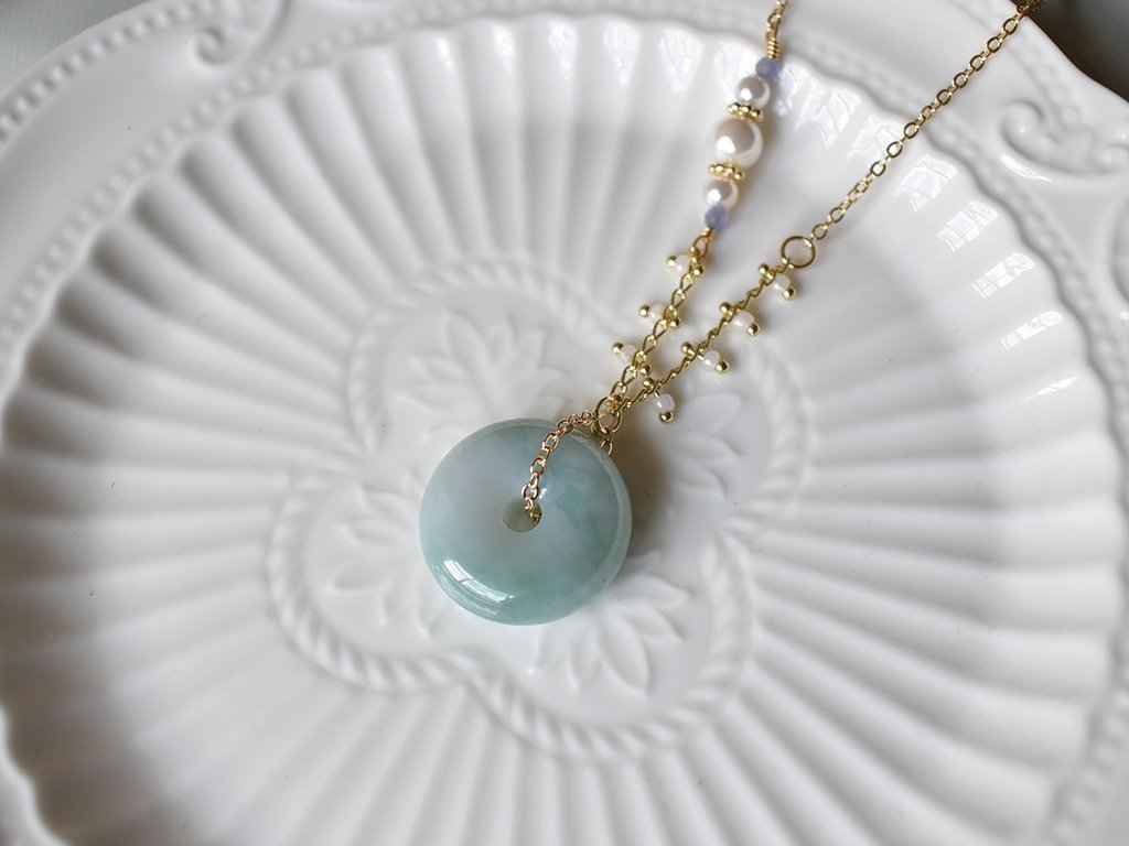 Necklace: Jade Donut 17