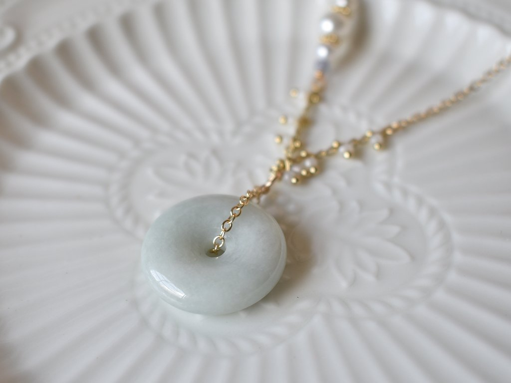 Necklace: Jade Donut 0.2