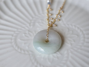 Necklace: Jade Donut 0.5