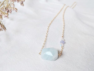 Necklace: Aquamarine
