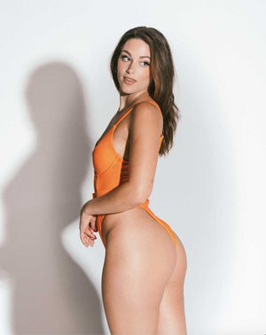 Avery One Piece Swimsuit Orange Size