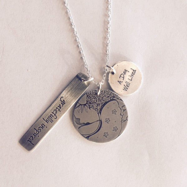 A Day Well Lived Necklace - Three Charms