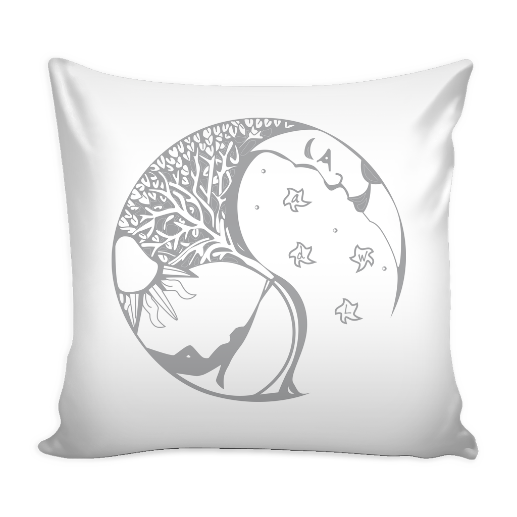 A Day Well Lived Pillow Cover - White/Grey