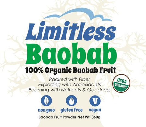 Limitless Baobab 100% Organic Baobab Fruit Powder (360 grams) [No Longer Available]