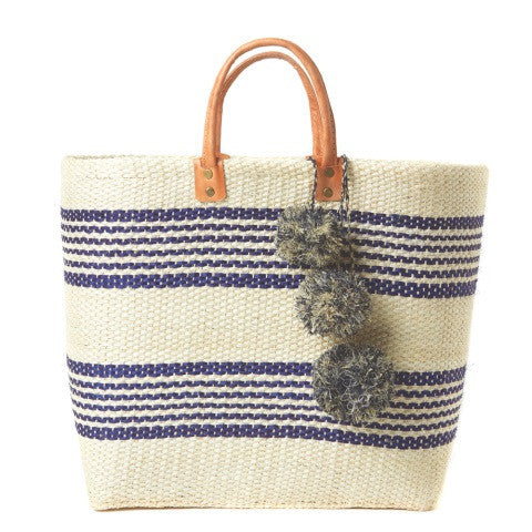 caracas tote - natural & navy