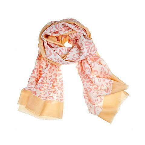 cheetah scarf - lobster bisque