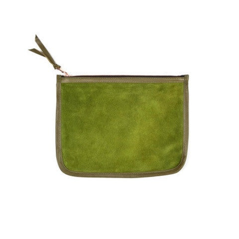 necessaire clutch - khaki on loden