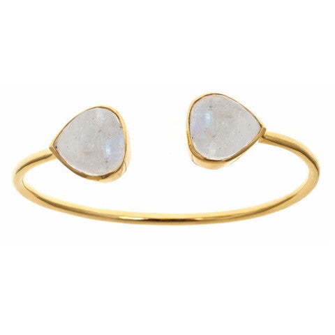 teardrop bangle - moonstone