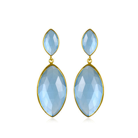 drop earring - blue topaz