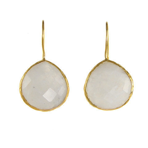 teardrop earrings - moonstone