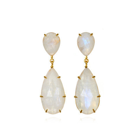 penelope drop earring - moonstone