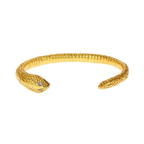 serpent gold cuff
