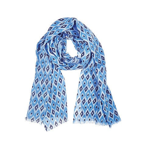 santa fe scarf - denim & india ink