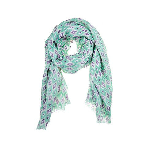 santa fe scarf - green & purple