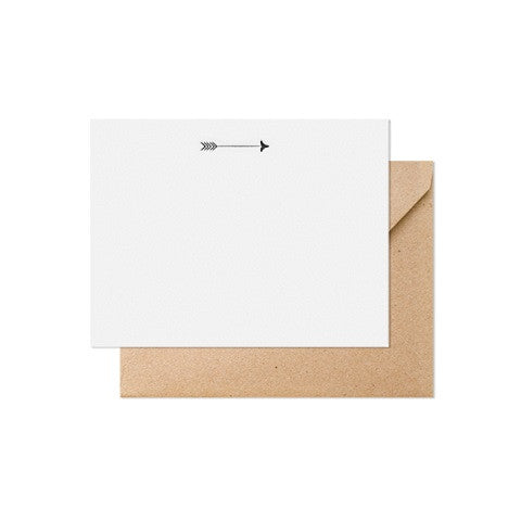 arrow note card - set