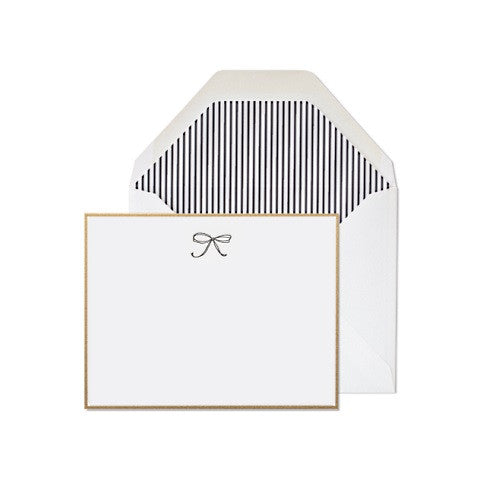 bow note card - set