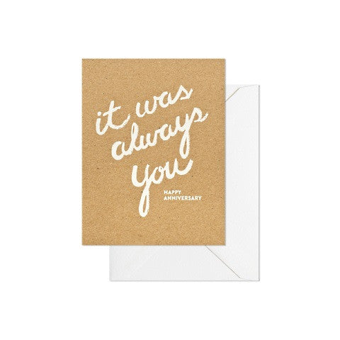 it was always you card