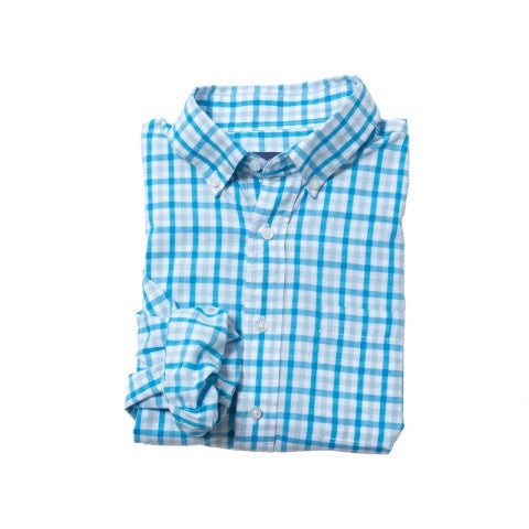 men's modern window pane button down - malibu