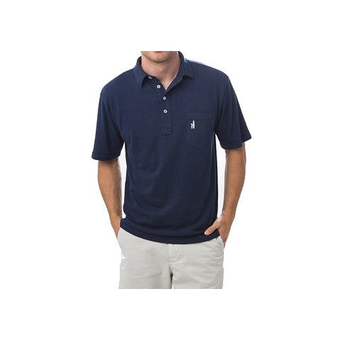 men's 4 button polo - navy
