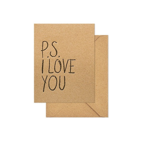 ps i love you card
