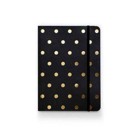 polka dot notebook - black