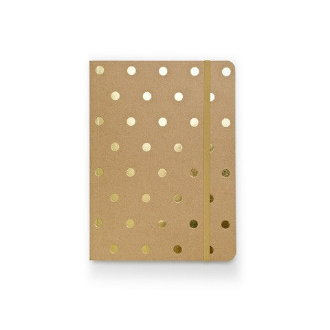 polka dot notebook - kraft