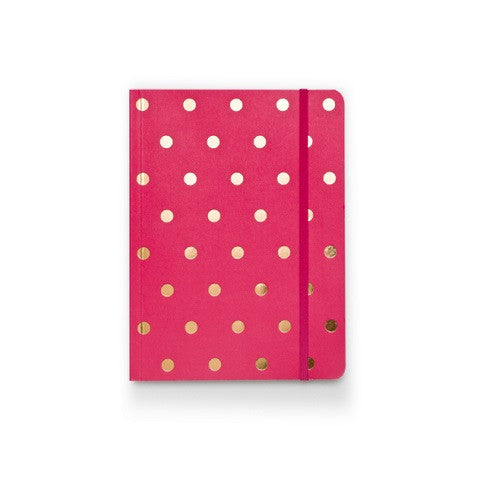 polka dot notebook - pink