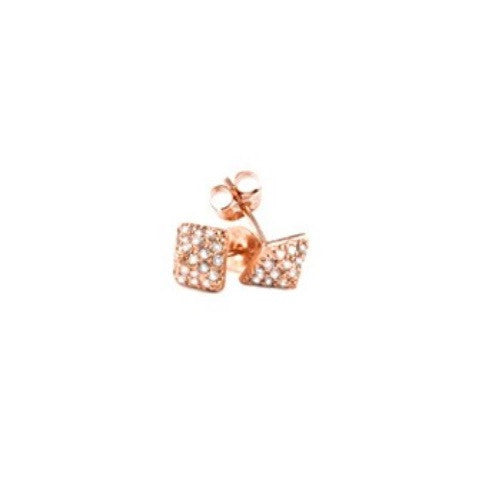 pyramid stud diamond earrings - rose