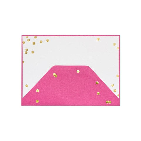 confetti note card - set