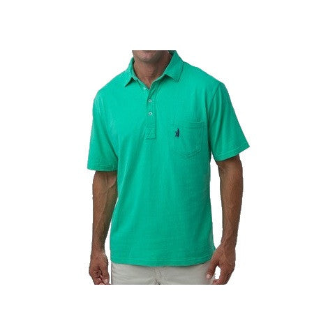 men's 4 button polo - spearmint