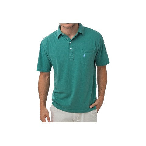 men's 4 button polo - spruce