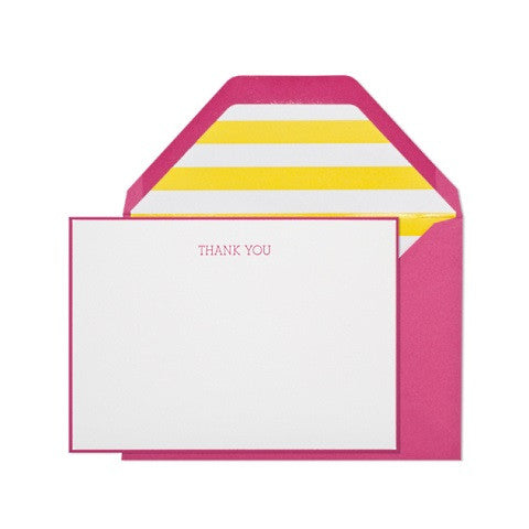 summer thank you card - set