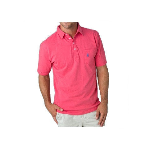 men's 4 button polo - sunset