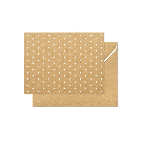 swiss dot note card - set