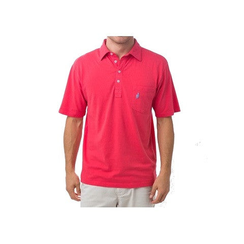 men's 4 button polo - watermelon