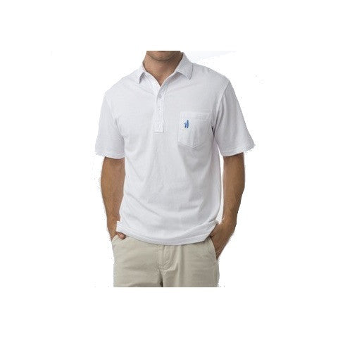 men's 4 button polo - white