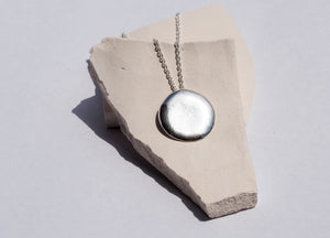 AURA STUDIOS SILVER CIRCLE NECKLACE