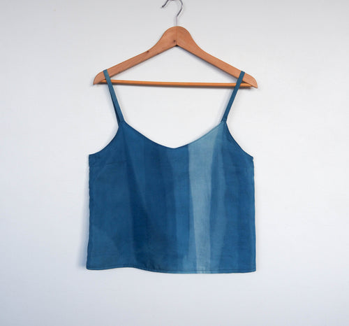 AURA_STUDIOS_INDIGO_FLOW_CAMISOLE_MADE_IN_SYDNEY