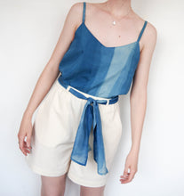 Load image into Gallery viewer, AURA_STUDIOS_INDIGO_FLOW_CAMISOLE_MADE_IN_SYDNEY