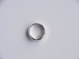 AURA STUDIOS LIQUID SILVER WIDE RING